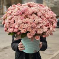 Композиция 101 кустовая пионовидная роза R1976