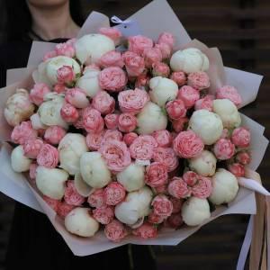 Большой букет пионы и пионовидные розы R5199