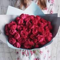 Букет 19 веток пионовидной розы R019