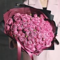 Букет 51 пионовидная кустовая роза R79